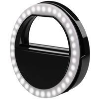 Clip de LED MD9 para Luz em Selfie, Preto - LT-575