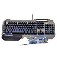 Combo Gamer Warrior Teclado Ragnar, LED 3 Cores, com Superfície em Metal e Mouse Keon LED 4 Cores, 3200 DPI - TC223