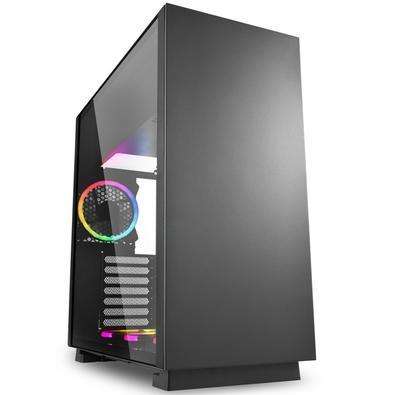 O PURE STEEL é um gabinete midi ATX com um amplo espaço completamente feito em aço. Através do painel lateral feito em vidro temperado, a vista é idea