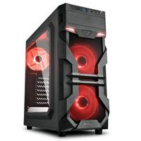 O VG7-W é um gabinete MID ATX compacto feito para gamers que querem qualidade e preço baixo. A janela lateral de acrílico e seu painel frontal express