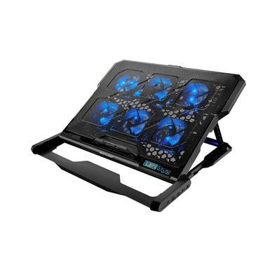 O Cooler para Notebook com 6 fans LED Azul Hexa Cooler - AC282 é um produto com alta potência, atingindo 1500 RPM, com 6 coolers de 7cm cada.    Possu