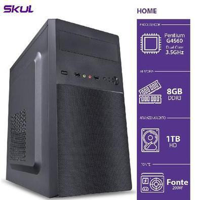 *** SKUL - HOME ***A linha de computadores Skul Home foi desenvolvida especialmente para aqueles que fazem o uso do computador para tarefas diárias, c
