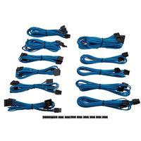 Kit de cabos p/ fonte de alimentação Corsair AX, AXi, CSM, CXM, HX, HXi, RM e TXM Series, composto de duas conexões EPS12V/ATX12V (4+4 pinos) + seis c