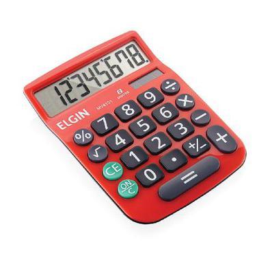 É econômica porque funciona com energia solar e bateriaNa cor vermelha com 8 dígitosFunções Raiz Quadrada e PorcentagemDisplay extra grandeNúmeros gra