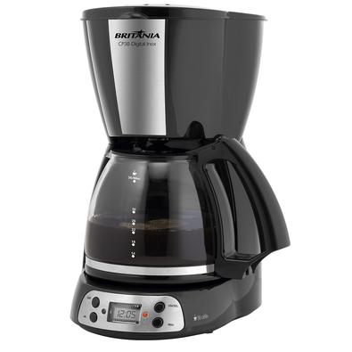 •  Sabe aquele cheirinho delicioso de café no ar ao acordar? Com a Cafeteira Britânia CP38 Digital Inox você pode ter isso e muito mais!•  Conta com f