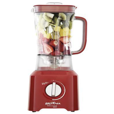 •  Preparar diversos tipos de alimentos, vitaminas, molhos, sopas cremosas e muito mais fica fácil com o Liquidificador Britânia Bellagio Vermelho 800