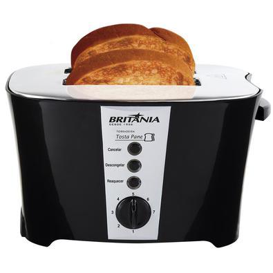 Com a Torradeira Britânia Tostapane Preta 800W no seu dia a dia, não vão faltar torradas gostosas em suas refeições. Ela é multifunções: Descongela pã
