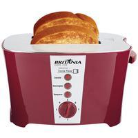 ?  Com a Torradeira Britânia Tosta Pane Vermelha 800W não vão faltar torradas gostosas em suas refeições diárias,?  Ela é multifunções: Reaquece pães
