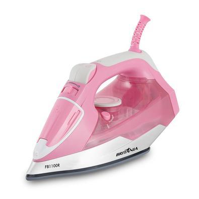 •  O Ferro a Vapor Britânia FB1100R Rosa vai te ajudar passar suas roupas com todo o zelo e eficiência que você merece!•  Possui vapor extra que garan