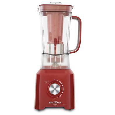 • O Liquidificador Britânia BLQ900 Vermelho possui 900W, potência que te leva muito além na hora de preparar diversas receitas!• Com 4 velocidades + p