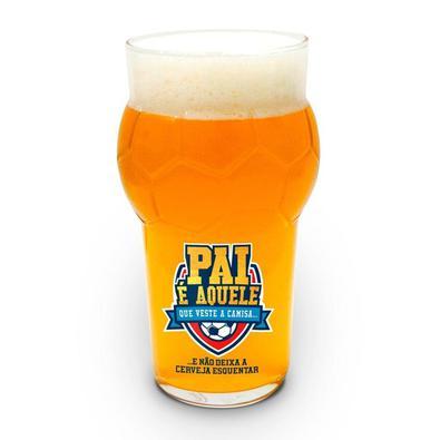 Procurando um copo super criativo para seu pai?! Veja o Copo para Cerveja Bola de Futebol ele é, perfeito para seu pai que é, apaixonado por futebol e