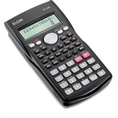 A Elgin dispõe das Calculadoras Científicas modelos CC56, SC183 e CC240. Com displays de 10 e 12 dígitos em duas linhas para visualização de Cálculos