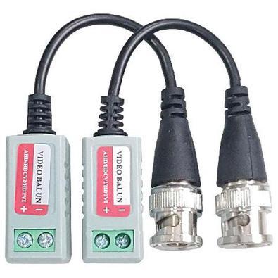 Plug direto na Câmera ou DVR o transceptor BNC, passivo, um canal, para transmissão e recepção do sinal de vídeo em HD ( CFTV ), usando um cabo de Lan