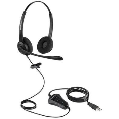 Plug &, PlayÉ só plugar no computador e pronto! O headset é compatível com Windows® , Mac® , Linux® Skype for Business, e demais softwares utilizados