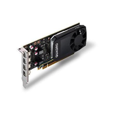 A NVIDIA Quadro P1000 combina uma GPU da arquitetura Pascal contendo 640 núcleos CUDA, 4 GB GDDR5 de memória integrada e tecnologias avançadas de exib