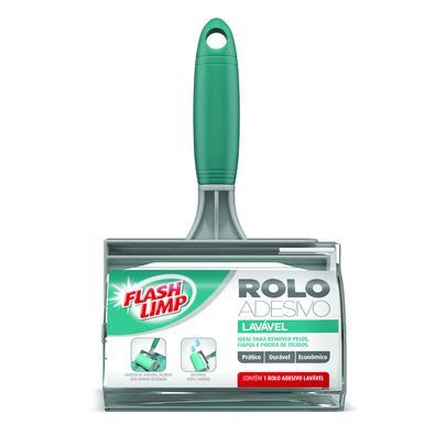 Com o Rolo Adesivo Lavável da FlashLimp você retira pelos e poeira de suas roupas sem se preocupar com trocas de refil. Para recuperar seu poder de ad