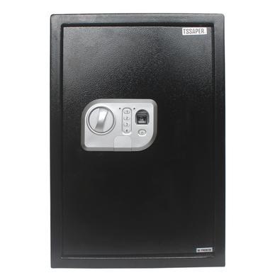 Segurança na medida certa!Cofre com leitor biométrico, sistema de fechamento eletrônico digital e chave de emergência 43 litros 50fpn da Tssaper.Este