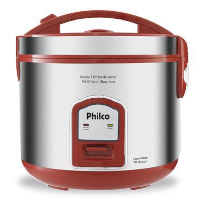 Com a Panela Elétrica de Arroz Philco PH10V não há desculpa para não preparar suas refeições. Aliada para otimizar seu tempo na cozinha, permite o pre