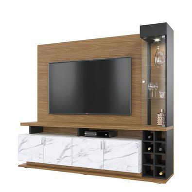 Quer valorizar sua sala e deixá-la muito mais elegante? Você vai se encantar pelo Home Cristaleira Vivace! Seu design exclusivo reúne em um só produto