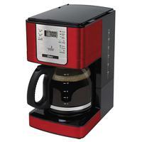 Painel digital programável em aço inox permite programar a hora ideal para você ter o seu café fresquinho e conta com o seletor de intensidade de pó,