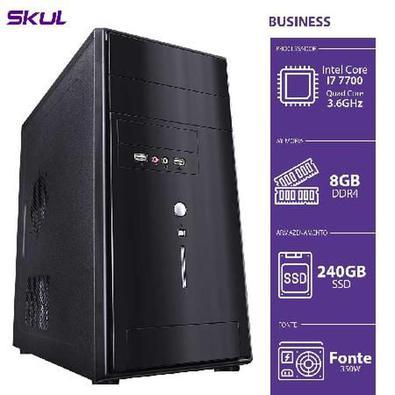 Computador Business B700 Intel Core I7-7700, 8Gb, SSD 240 Gb, Hdmi/Vga, Fonte 300W..