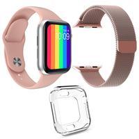 Relógio Inteligente SmartWatch W26 é compatível com Android e iOS, ele também possuí Tela Infinita e possui diversas funções. Com ele você pode ler me