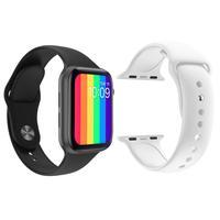 Kit 1 Relógio Inteligente SmartWatch W26 Tela Infinita Preto Android iOS + 1 Pulseira Silicone Branco..