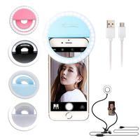 Luz Selfie Ring Light Clipe Anel Led Flash Celular Universal..