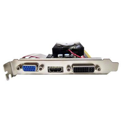 Placa de Vídeo AFOX GeForce GT 730, 2GB, DDR3, 128 Bits, Low Profile, HDMI/DVI/VGA - AF730-2048D3L6. Com velocidade da Memória: 667 MHz...