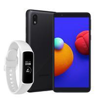"""Smartphone Samsung Galaxy A01 Core, 32GB, 2GB RAM, Tela Infinita de 5.3"""", Câmera Traseira 8MP, Frontal de 5MP, Bateria de 3000mAh, Dual Chip, Android"""