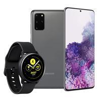 Smartphone Galaxy S20+, 128GB, 64MP, Tela 6.7´, Cosmic Gray + Galaxy Watch Active Preto