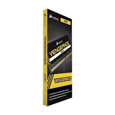 O kit de memória SENSOR DE VENGEANCE SODIMM de alto desempenho CORSAIR, 2666MHz CL18 1.2V, permite que você aumente automaticamente o desempenho do se