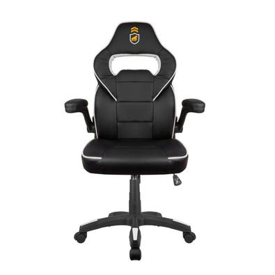 Fabricada em couro sintético reforçado de alta qualidade, a cadeira gamer possui um formato que favorece a postura e, consequentemente, a coluna. O jo