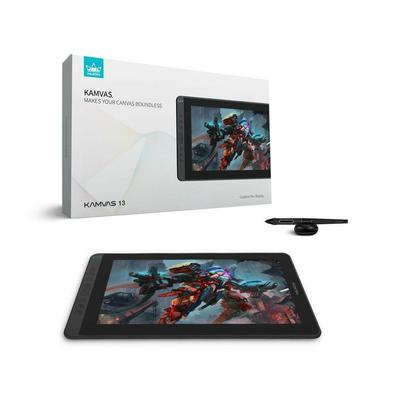 Mesa Digitalizadora Huion Kamvas 13.3p Full HD, Cosmo Black - GS1331-B. Poder ser alimentado por laptop diretamente via USB. Conexão rápida oferecida
