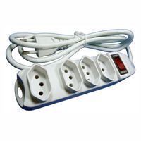 O filtro de linha DNI7414, com quatro tomadas de três pinos (2 pinos e 1 terra) possibilita conectar diversos dispositivos na mesma tomada com qualida