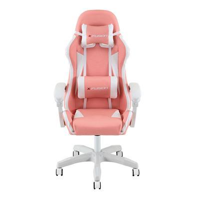 Cadeira Gamer X Fusion, Suporta até 120kg, Rosa - C.123..