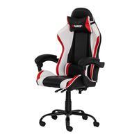 Cadeira Gamer Racer ii Giratória, Altura Ajustável com Função Relax, Preta/ Branco e Vermelho..