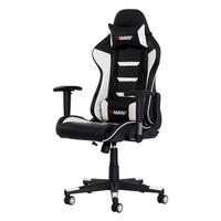Cadeira Gamer Gear ii Reclinável 180º Giratória Com Altura Ajustável e Função Relax, Preto/Branco..
