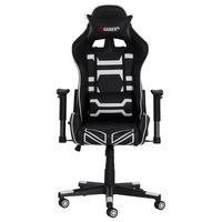 Cadeira fx Gamer Reclinável 180º Giratória Com Altura Ajustável e Função Relax, Rodas Anti Risco, Preto e Branco...