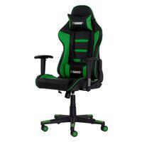 Cadeira Gamer Gear ii Reclinável 180º Giratória Com Altura Ajustável e Função Relax, Preto/Verde..