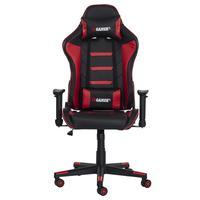 Cadeira Gamer Gear ii Reclinável 180º Giratória Com Altura Ajustável e Função Relax, Preto/ Vermelho...