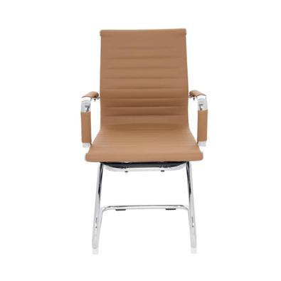 Cadeira de Escritório Executiva Boston Esteirinha Caramelo, base fixa em metal com apoio antideslizante. A Cadeira Executiva Boston é uma sofisticada
