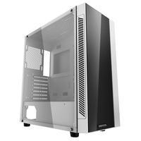 Um gabinete compacto para computador ATX suporta placas-mãe de até E-ATX. Com espessura total de 4 mm, o painel lateral de vidro temperado e o painel