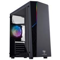 Gabinete Gamer com iluminação RGB no painel frontal Painel Frontal com design semi aberto para maior fluxo de ventilação.