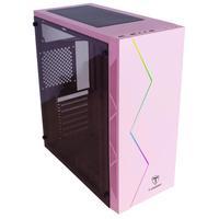 Gabinete Gamer com iluminação RGB no painel frontal Painel frontal texturizado Entrada de ar lateral na parte frontal do gabinete para maior fluxo de