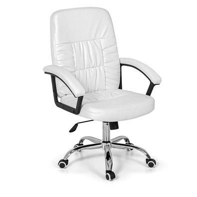 A Cadeira para Escritório Confort Base Giratória é feita em espuma revestida por material sintético, apresentando uma alta qualidade e excelente acaba