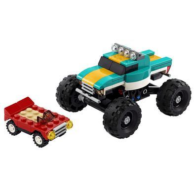 Inspire a paixão das crianças por veículos enormes com o emocionante conjunto de brinquedos montáveis LEGO® Creator 3in1 Monster Truck (31101). Eles v