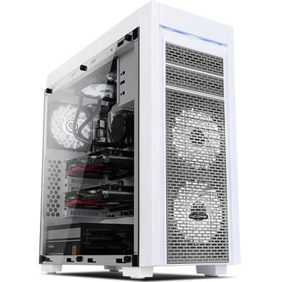 Conheça o Gabinete Gamer Full Tower Horus Mymax. Muito mais espaço para montar a máquina dos seus sonhos, pois conta com suporte para até 6 fan 120mm,