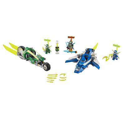 Os fãs de LEGO® NINJAGO® vão adorar construir e competir com esses Velocity Racers de Jay e Lloyd (71709), com uma incrível bicicleta e avião de brinq