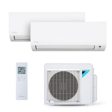 O ar Bi Split Daikin é uma opção flexível para climatizar vários ambientes com economia e conforto. A instalação ocupa menos espaço, porque o bi split